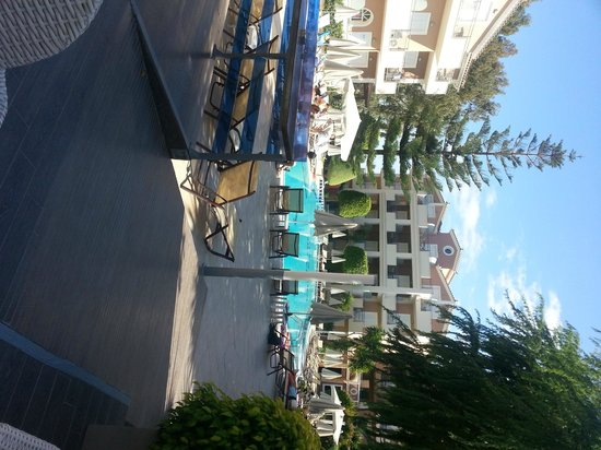 Contessina Hotel : view from pool bar