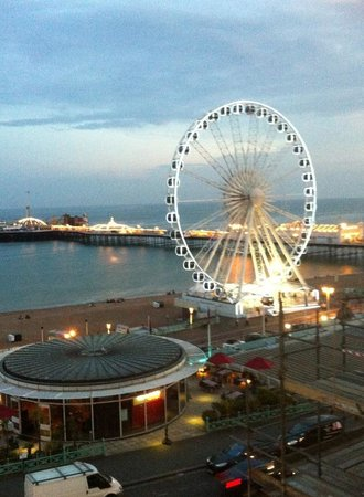 View from out hotel room legends hotel Brighton