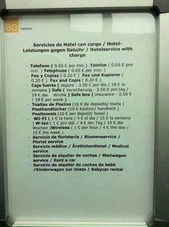 BQ Apolo Hotel: services