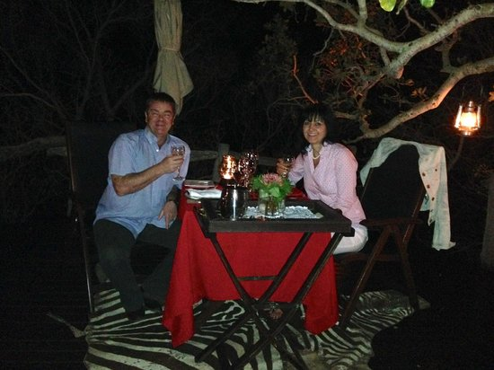 Wild & Free: Private romantic dinner under the stars.