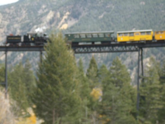 Georgetown Loop Historic Railroad: on a reproduction of the original bridge
