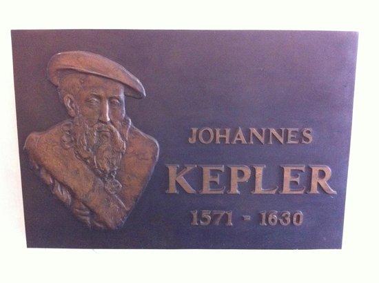 Keplerovo Museum: Plaque