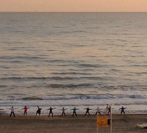 Hotel Sarti: gym sur la plage