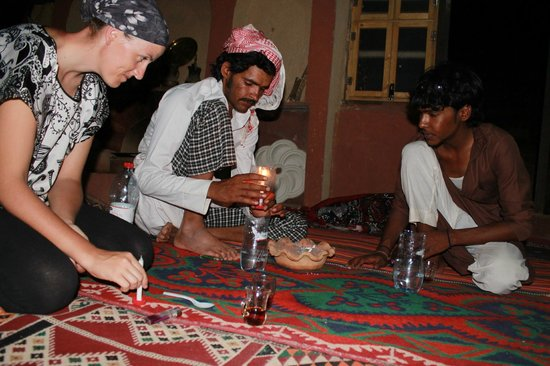 The Bedouin Meditation Camp: Le repas