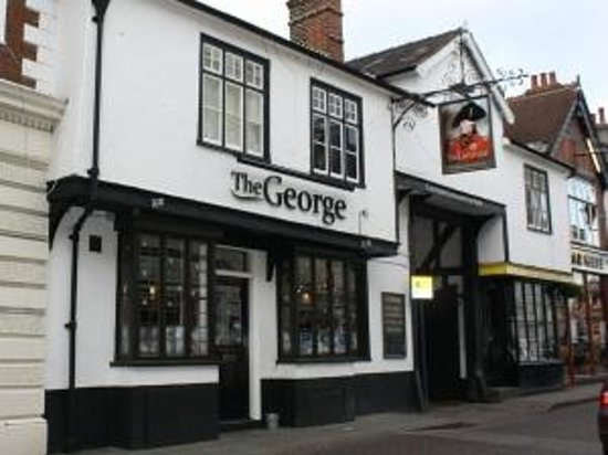 The George: 16th Century coaching inn - one of Hitchin's oldest and most beautiful pubs