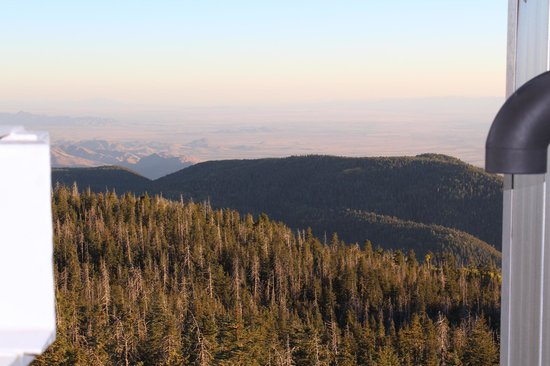 Mount Graham International Observatory: View from the telescope chamber