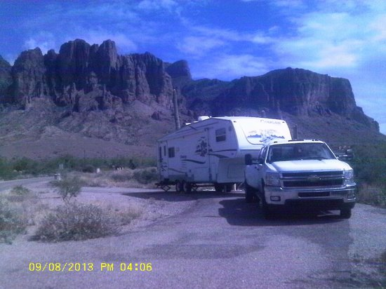 Lost Dutchman State Park: View of our campsite.