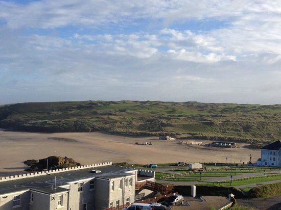 View of The Watering Hole from cliff top