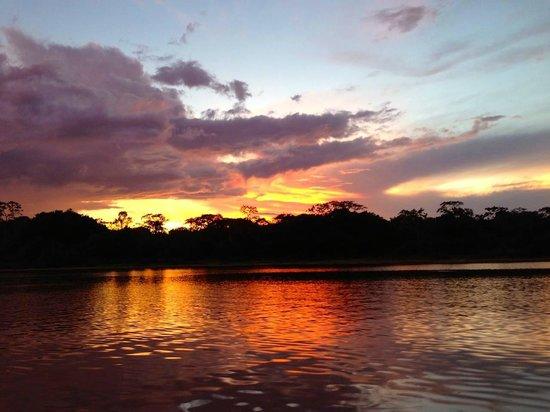 Libertad Jungle Lodge: sunset!