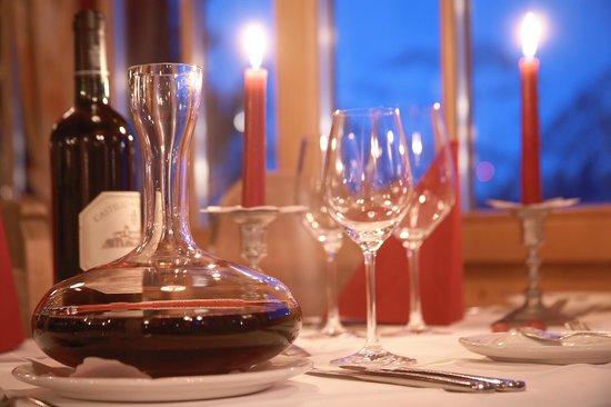 Gspan Arosa: gedeckter Tisch