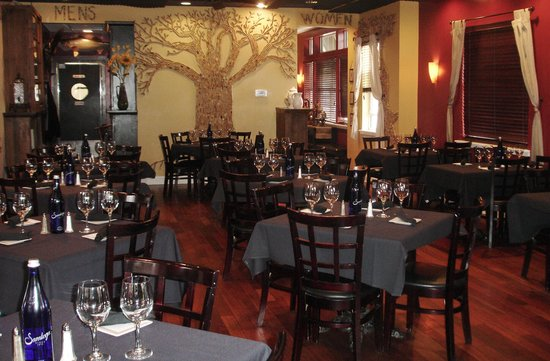 "Zinna's Bistro: Our ""Zinna's Family Tree"" made from customers' corks"
