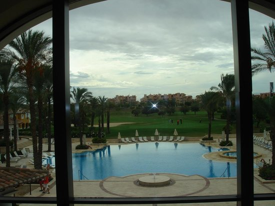 The Residences at Mar Menor Golf Spa: view from main reception to rear