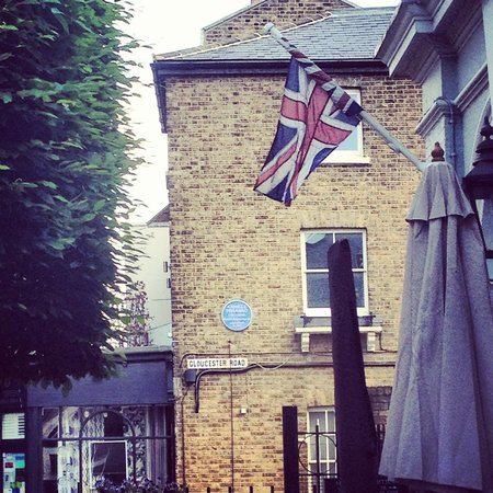 The Coach and Horses: Union Jack out front