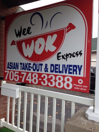 Wee Wok Express : Our front sign at 337 George street south.
