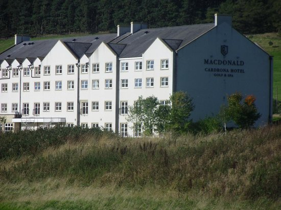 Macdonald Cardrona Hotel, Golf & Spa: View from the 18th tee