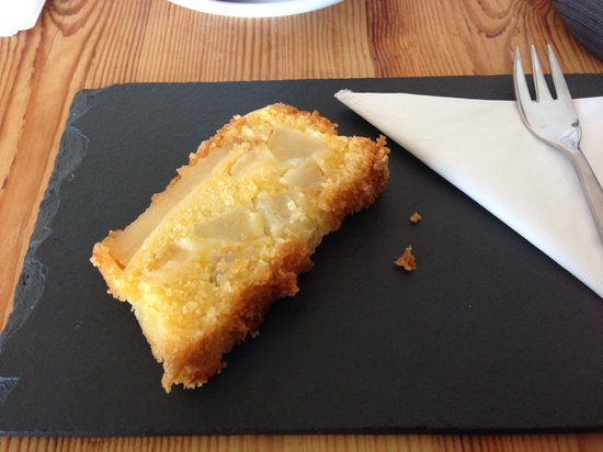 The Coffee Cove: World premiere of the homemade Pear Polenta Cake - Loved it :)