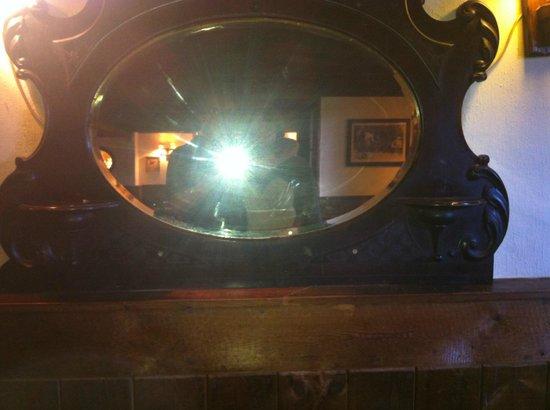 The Pheasant Inn Public House: Mirror on the wall in the bar