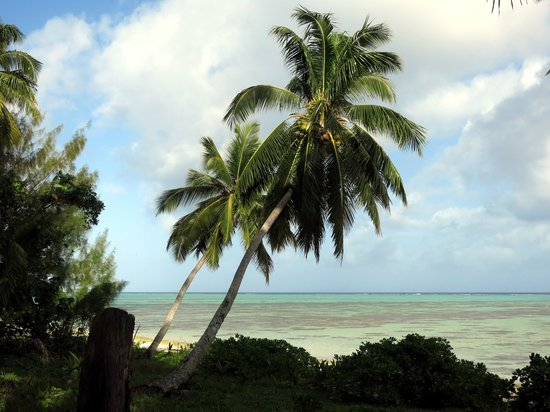 Amuri Sands, Aitutaki: view from the deck