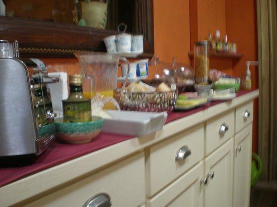 Camere a Sud: detalle desayuno
