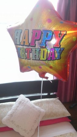 Belvedere Hotel: surprise birthday balloon in my room from the owners