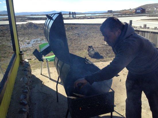 El Chiringuito Patagonico: Prendiendo el chulengo,  (frente a la Nimez)
