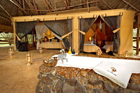 Safari at Mara Timbo Camp, Masai Mara, Kenya - family tent with an extra room for kids
