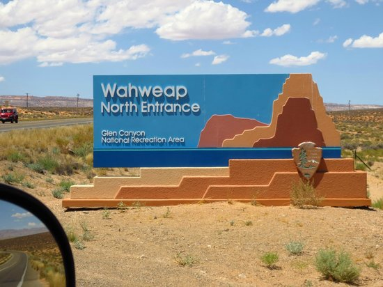 Glen Canyon National Recreation Area: Noordelijke ingang Wahwead Park