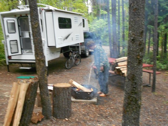 Glacier Campground: living in the great outdoors