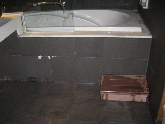 """R Mar Resort and Spa : Flooding in the """"Deluxe"""" shower"""