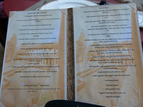 El Patio menu - Picture of Secrets Maroma Beach Riviera Cancun ...