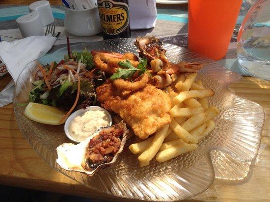 Sealife Centre Restaurant: hot seafood platter