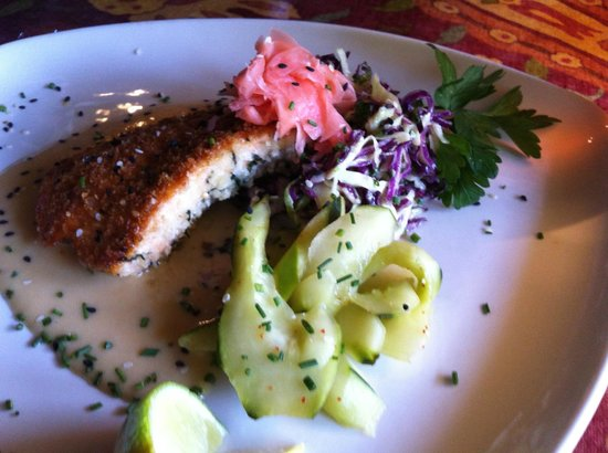 McPhee's Grill: Macadamia Coated Salmon