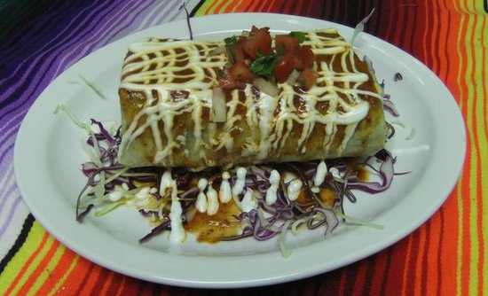 Iguanas Mexican Grill: Enorme burrito