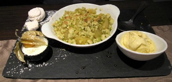Le Statu.co : apple & pistachio crumble