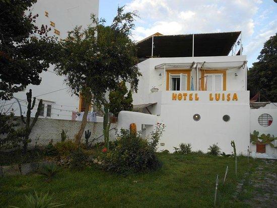 Piccolo Hotel Luisa: L'Hotel immerso nel verde, è la visione che abbiamo dalla strada.