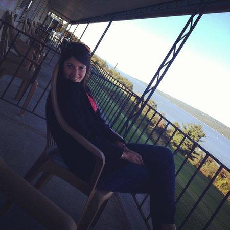 Glen Motor Inn: On the porch