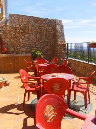 Hotel Restaurante Can Joan : terraza exterior