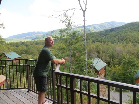 Elk Springs Resort: A perfect view off of back deck of cabin