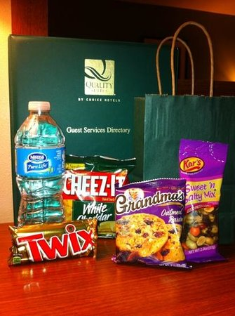 Quality Inn & Suites Near Fairgrounds Ybor City: Diamond Member's goody bag