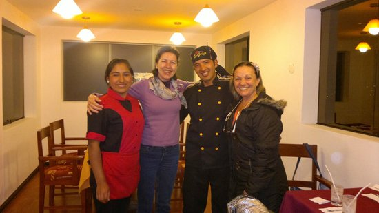 Hotel Golden Inca: Jantar no Restaurante do Hotel e um abraço no chef e na atendente