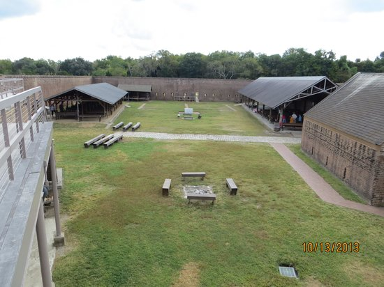 Old Fort Jackson: The interior walls.