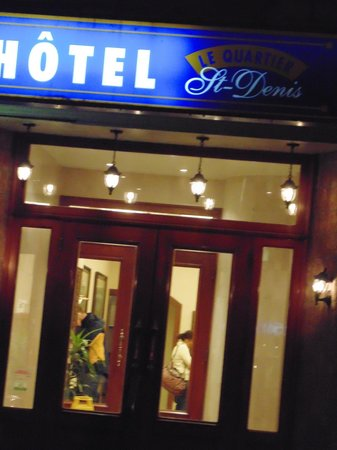 Front Entance to Hotel St-Denis
