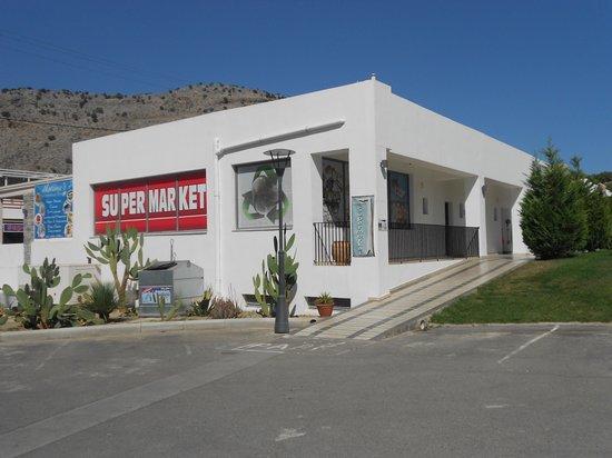 Matina Pefkos Aparthotel: supermarket