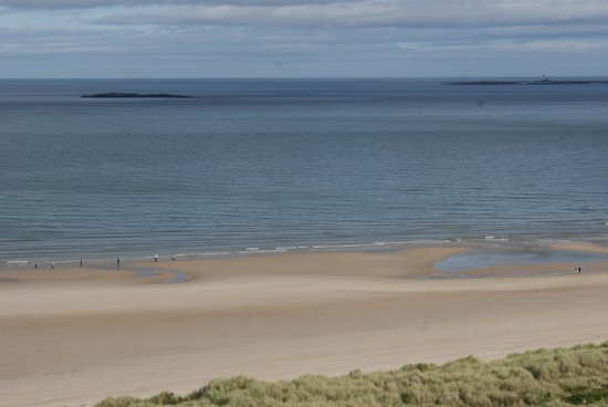 Bamburgh Castle: You can see beach from the castle.