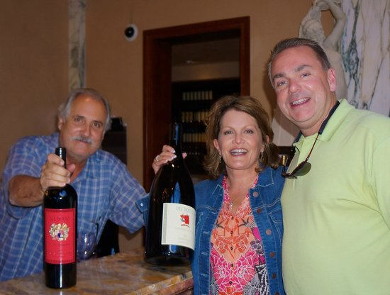 Del Dotto Vineyard & Caves : Dave signing our bottles