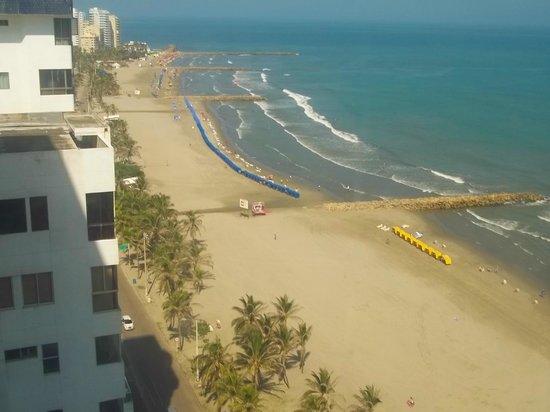 Hotel Cartagena Plaza : praia