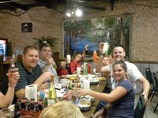 The Bayou Cajun Eatery: Wonderful customers enjoying some great Cajun food :)