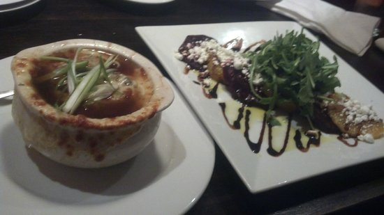 The Red Sun Fire Roasting Co.: French Onion Soup & Roasted beets