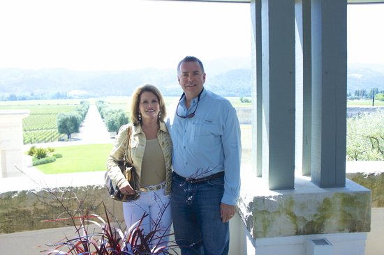 Opus One Winery: overlooking the vineyards