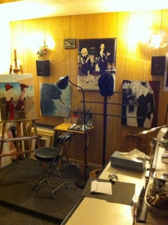 Atelier Un COUPLE EN ART: Atelier de monique